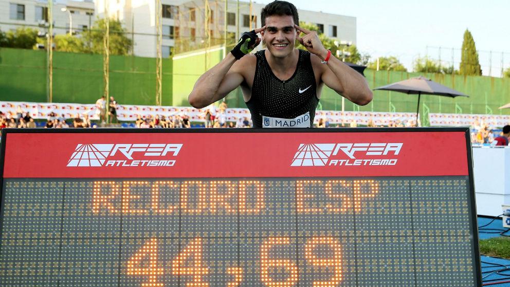 Bruno Hortelano hace el récord de España. (EFE)