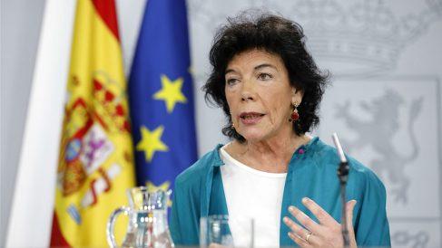 Isabel Celaá, portavoz del Gobierno. (EP)