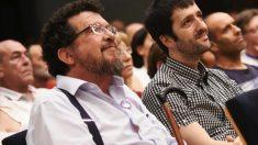 Javier Iglesias en primer plano, padre de Pablo Iglesias. (Foto. Podemos)