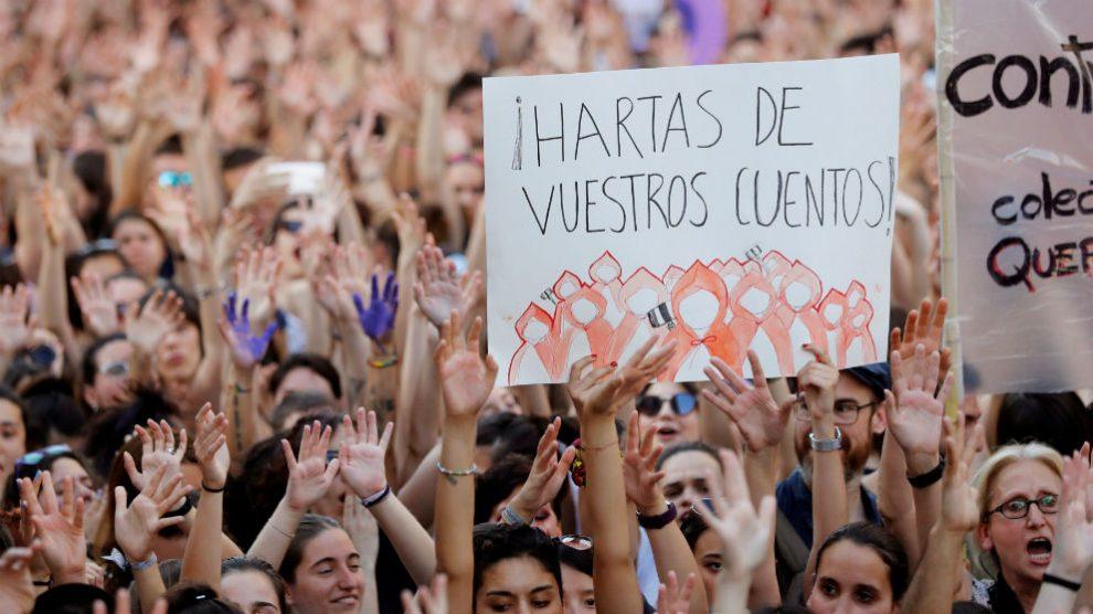 Manifestación de protesta por la excarcelación de 'La Manada'