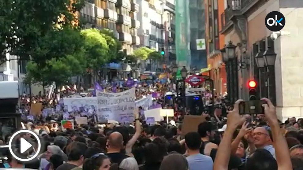 Manifestación contra La manada en Madrid.