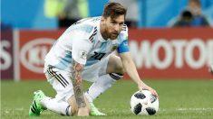 Messi durante el partido de Argentina ante Croacia. (Getty)
