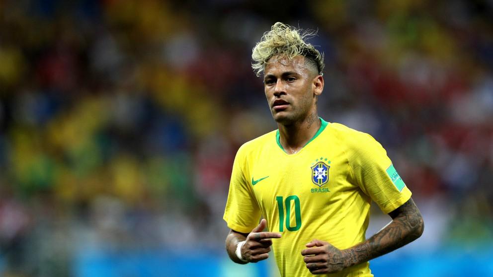 Neymar, en un partido con Brasil. (Getty) | Brasil – Costa Rica | Mundial 2018