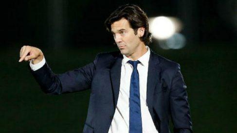 Solari durante un partido con el Castilla. (Realmadrid.com)