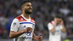Fekir, durante un partido de esta temporada con el Olympique de Lyon. (AFP)