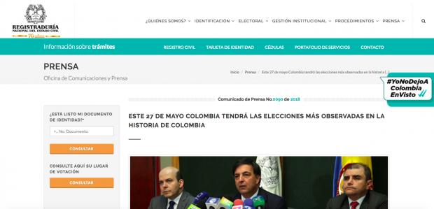 Elecciones Colombia 2018