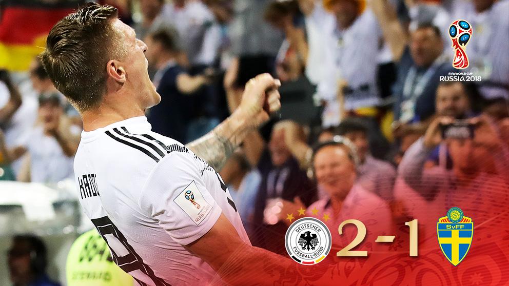 Kroos salvó a Alemania en el último minuto.