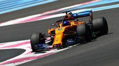Fernando Alonso, en la sesión de entrenamiento del GP de Hungría. (Getty) | GP Hungría 2018 F1 | Entrenamientos libres Fórmula 1