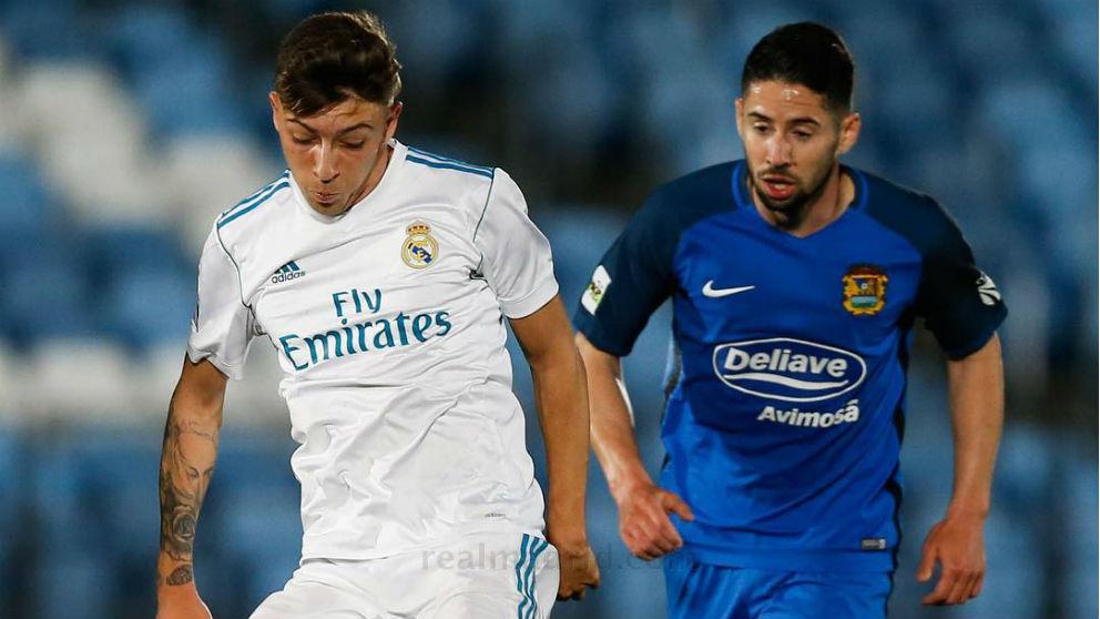 Gelabert durante un partido con el Castilla ante el Fuenlabrada. (Realmadrid.com)