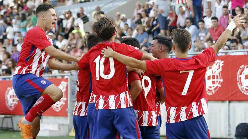 El Atlético juvenil celebra un gol en la final de la Copa del Rey. (Atlético de Madrid)