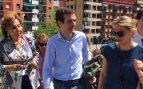 Pablo Casado, a su llegada a Ermua este domingo (Foto: @pablocasado_)