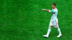 Sergio Ramos da indicaciones sobre el césped. (Getty) | España – Marruecos | Mundial de Rusia 2018