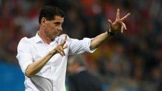 Fernando Hierro, en un partido de España en el Mundial. (Getty)