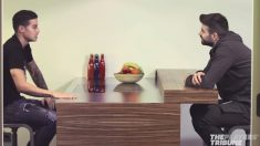 James y Piqué, durante la entrevista.