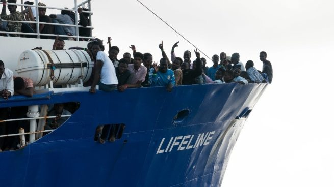 Barco de rescate de la ONG alemana Mission Lifeline. Foto: Mission Lifeline / EP