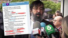 El juez Ricardo González y el mensaje que difunde sus datos personales y de su familia.
