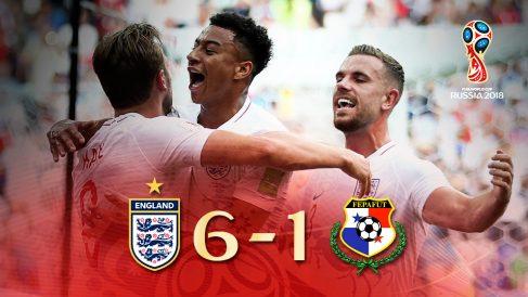 Inglaterra se impuso a Panamá en el Mundial 2018.