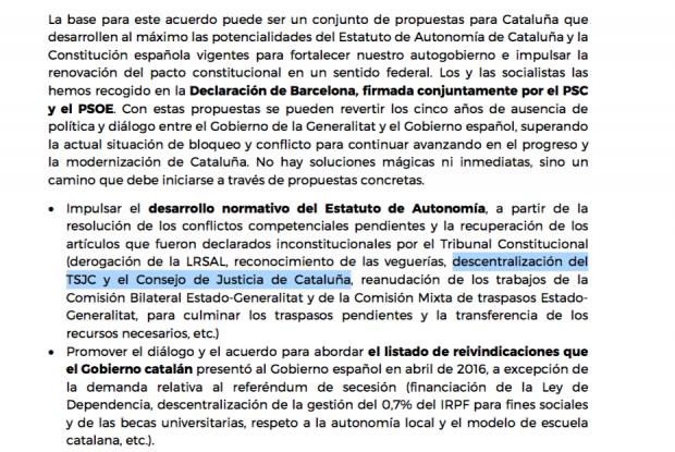 Sánchez facilitará la creación de una Justicia catalana independiente que salve a corruptos y golpistas