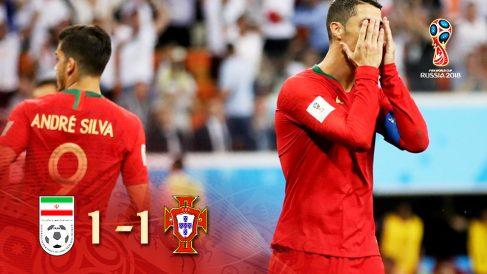 Susto tremendo de Portugal contra Irán.
