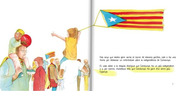 Fnac y Amazon venden un libro infantil que anima a «no dar ni un paso atrás» en la independencia
