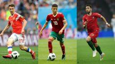 Golovin, Harit y Bruno Fernandes, jugadores a seguir en el Mundial 2018. (Getty)