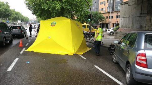 Imagen de archivo de una atropello reciente en Madrid. (Foto. Emergecia Madrid)