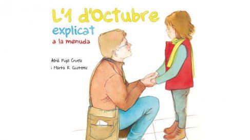 Portada del libro infantil 'L'1 d'Octubre explicat a la menuda' (El 1 de octubre explicado a la pequeña)