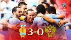 Uruguay se impuso a Rusia y queda primero del grupo A.