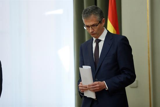 El Gobernador del Banco de España, Pablo Hernández de Cos, en su toma de posesión.