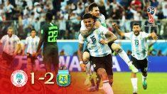 Argentina se clasificó para octavos gracias a un gol de Rojo en los últimos minutos.