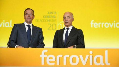 Íñigo Meirás, consejero delegado de Ferrovial, y Rafael del Pino, presidente de la empresa (Foto: Europa Press)