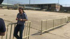 El líder de Podemos, Pablo Iglesias, en la cárcel de Soto del Real
