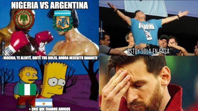 Resultado de imagen para Argentina nigeria memes