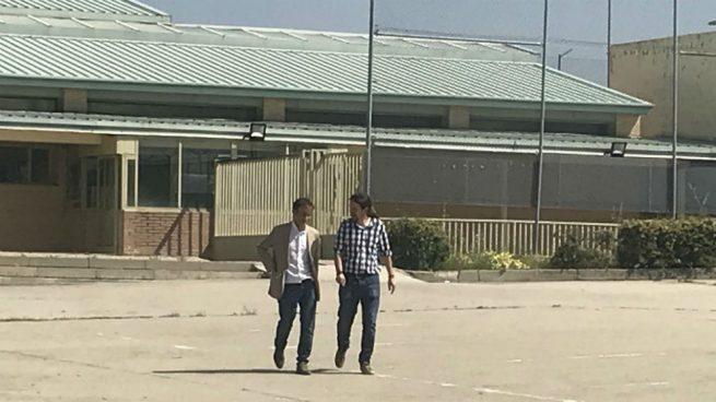 Pablo Iglesias en la cárcel de Soto del Real