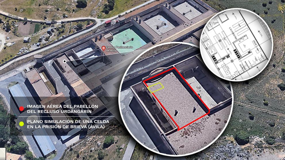 Plano de la cárcel de Brieva y el pabellón de Iñaki Urdangarin | Última hora Iñaki Urdangarin