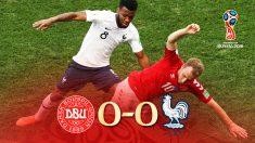 Francia y Dinamarca empataron y pasaron a octavos.