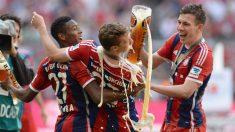 Los jugadores del Bayern de Múnich celebran con cerveza un título de Liga.