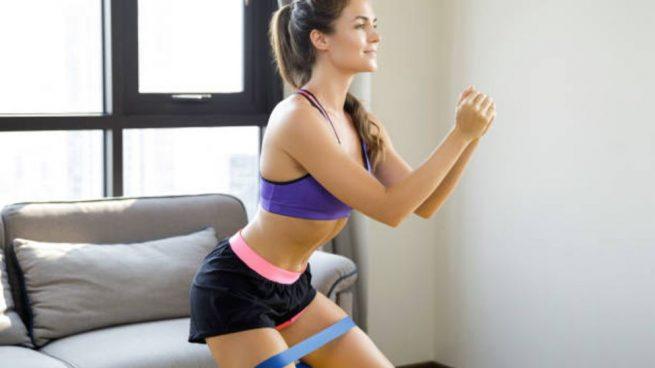 hacer ejercicios con gomas