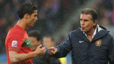 Cristiano Ronaldo guarda una controvertida relación con Carlos Queiroz.