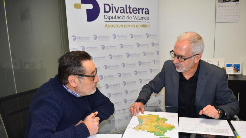 Manuel Carot (i), junto al cogerente de Divalterra, Xavier Simón. (Foto: @divalterra)