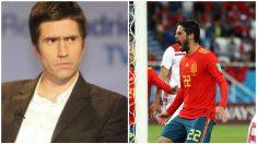 Isco pone en su sitio al periodista de 'El País', Diego Torres.