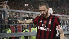 Bonucci, en un partido con el Milan.