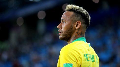 Neymar, durante el Serbia – Brasil del Mundial 2018. (Getty)
