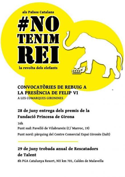 La CUP llama a bloquear este jueves al Rey por carretera en los premios Princesa de Gerona