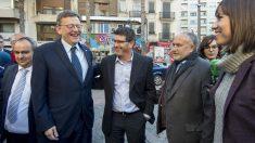El presidente valenciano Ximo Puig y el ya ex presidente de la Diputación Provincial de Valencia, Jorge Rodríguez.