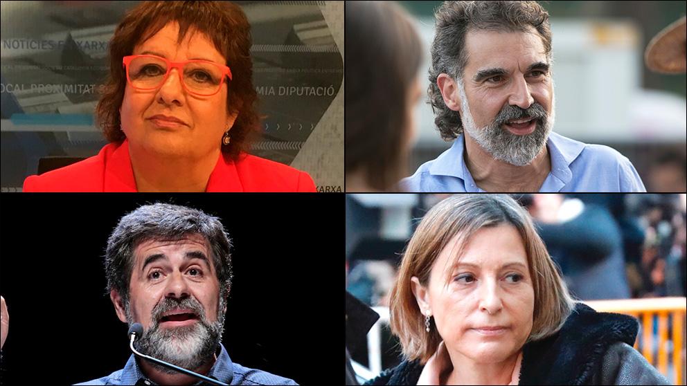 Dolors Bassa, Jordi Cuixart, Jordi Sànchez y Carme Forcadell