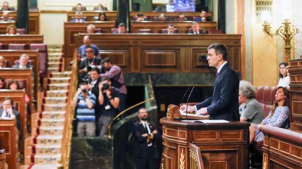 Pedro Sánchez, presidente del Gobierno. (Foto: La Moncloa)   Presupuestos 2018