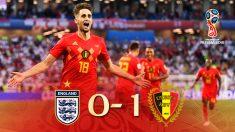 Bélgica fue superior a Inglaterra y evita a España hasta una hipotética final.