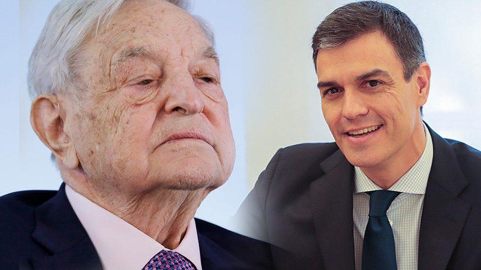George Soros y Pedro Sánchez