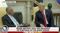 Donald Trump dijo algo que molestó al presidente de Portugal.